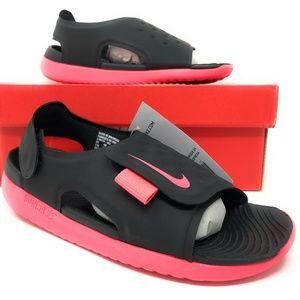 Nike Sunray Adjust 5 Black/Pink Kids Sandals NEW